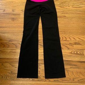 lululemon athletica Pants - Lululemon REVERSIBLE Black Astro pants hot pink wa